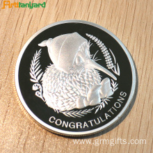 Customized Proof Coin With Silver Plating